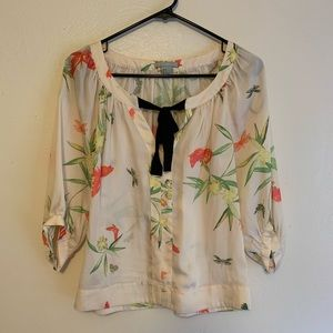 3/4 Sleeve Top - Floral Classic Blouse H&M